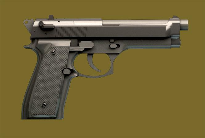 9мм пистолет Beretta