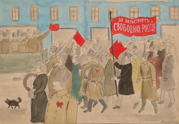 Фото №1 - Детские рисунки времен революции (24 исторически метких рисунка)