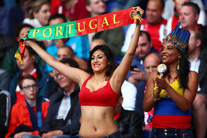 Португальская болельщица