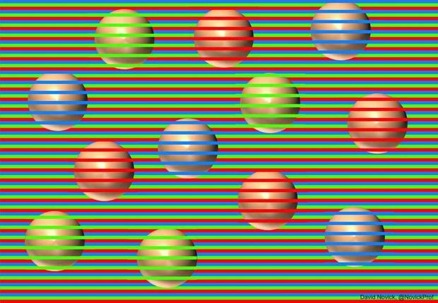 Фото №1 - Новейшая оптическая иллюзия с «разноцветными» кругами
