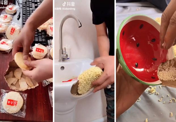 Фото №1 - Этот умелец чинит сантехнику, мебель и посуду едой (вдохновляющее видео)