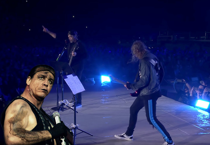 Фото №1 - Музыканты Metallica сыграли хит Rammstein на концерте (видео)