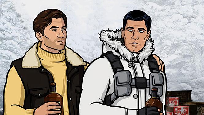 Арчер в альпинистской куртке
