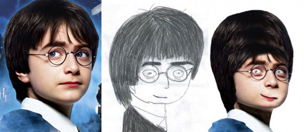 Фото №4 - Как бы выглядели знаменитости, если бы были похожи на портреты, нарисованные фанатами!
