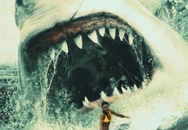 Фото №1 - Джейсон Стейтем против гигантской акулы в новом трейлере ужастика «Мег: Монстр глубины»