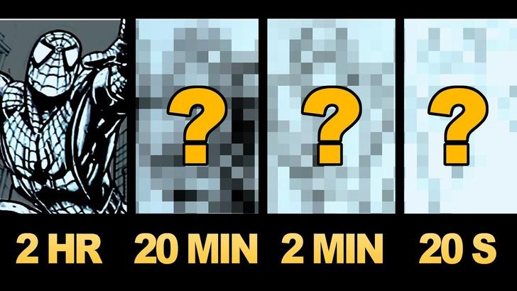 Фото №1 - Художник рисует одну и ту же картину за 2 часа, 20 минут, 2 минуты, 20 секунд (видео)
