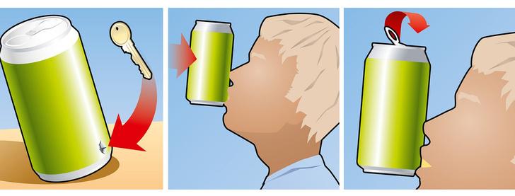 Фото №1 - Как выпить банку пива одним залпом