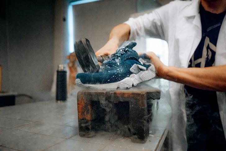Nike Air Huarache vs. жидкий азот