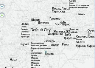 Интерактивная карта народных прозвищ городов России
