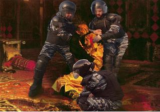 Силовики стали персонажами фотожаб после жестких задержаний участников протестов 27 июля в Москве