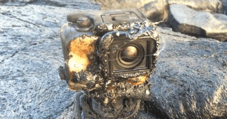Фото №3 - Вот что будет, если забросить камеру GoPro в кипящую лаву (изумительное ВИДЕО)