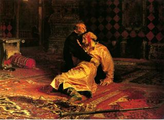 Вандал испортил картину «Иван Грозный убивает своего сына» из-за ее недостоверности