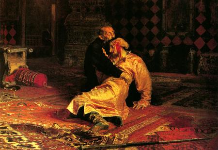 Вандал испортил картину «Иван Грозный убивает своего сына» из-за её недостоверности