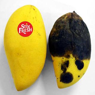 Изобретатель утверждает, что эти наклейки сохраняют фрукты свежими