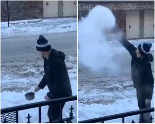 Твит дня: кипяток испаряется в полете при рекордном морозе (видео)