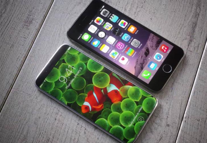 Фото №1 - Сенсация! На iPhone 8 не будет передней кнопки! Или будет?