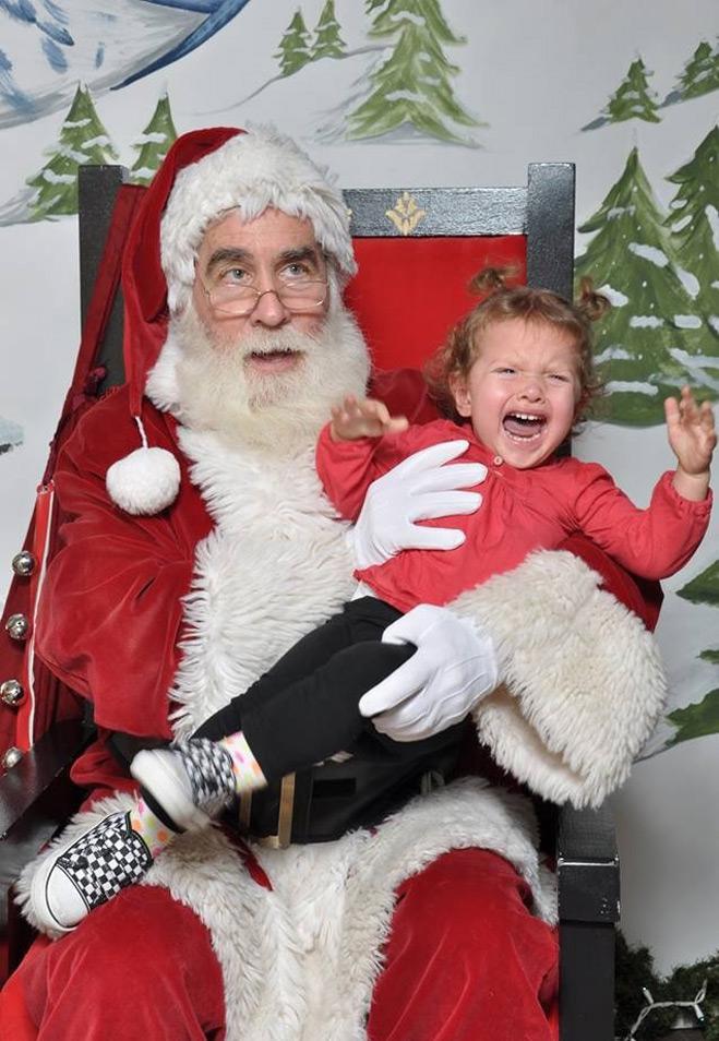 Мальчик и Санта