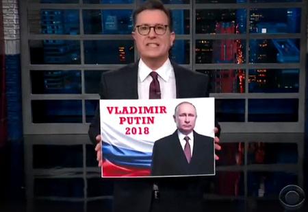 Джимми Киммел, Стивен Колбер и Джон Оливер о выборах президента в России