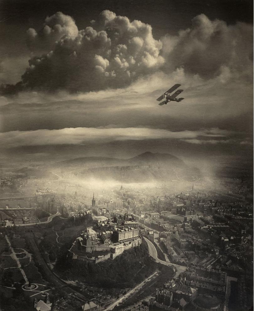 Вид на Эдинбург с воздуха