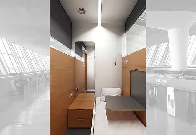 Фото №1 - В американских аэропортах устанавливают спальные капсулы