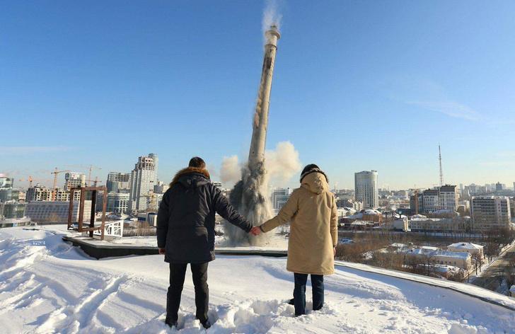 Фото №1 - Лучшие фото и видео сноса телевизионной башни в Екатеринбурге