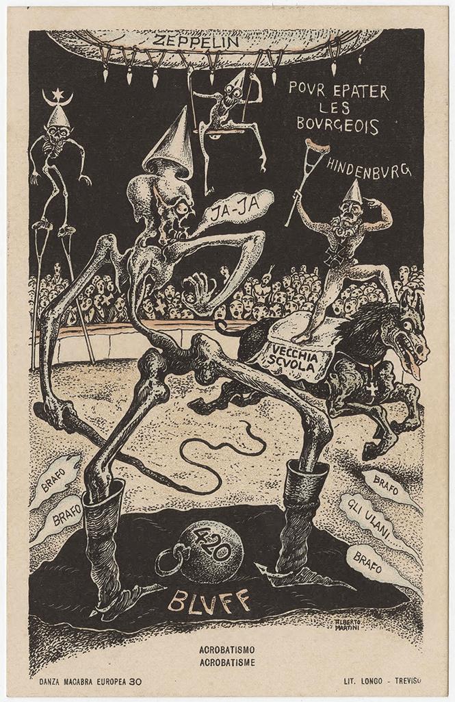 Жуткие карикатуры Первой мировой, от которых всё в жилах стынет
