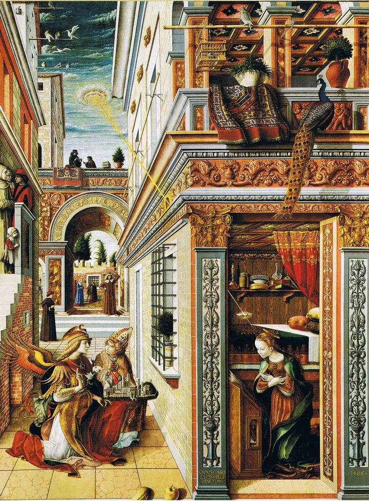 Фото №1 - 9 средневековых картин, на которых изображены НЛО