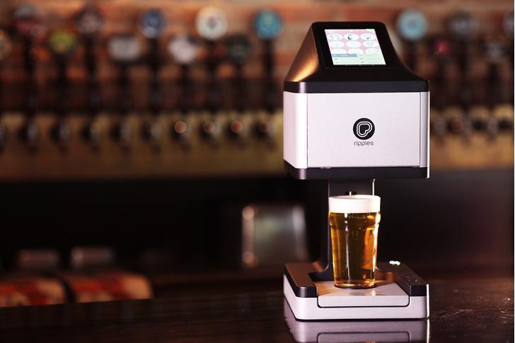 Фото №1 - Важное изобретение: принтер для печати пивной пеной