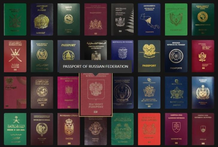 Фото №1 - Сайт недели: обложки паспортов всех стран мира