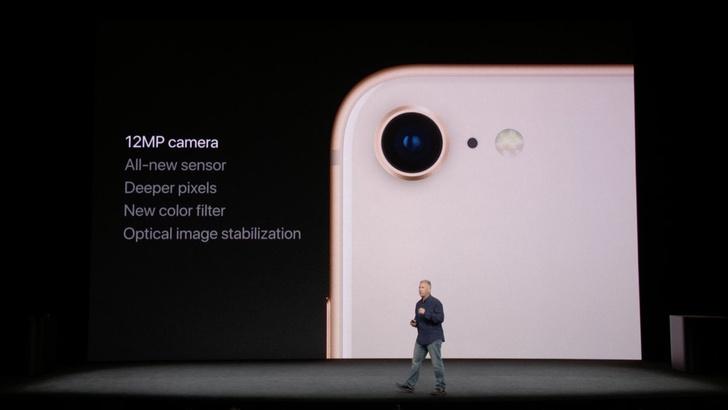 Камеры: 8 Plus — двойная 12Мп, у восьмерки — просто 8Мп.