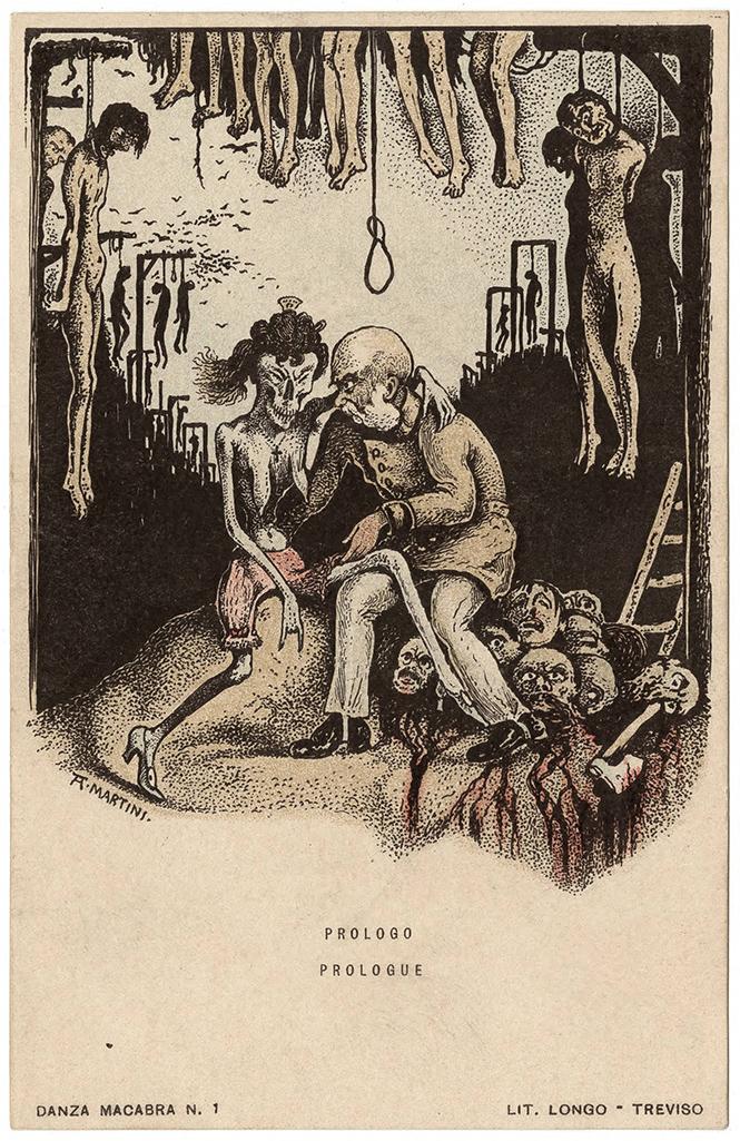 Фото №1 - Жутковатые карикатуры Первой мировой