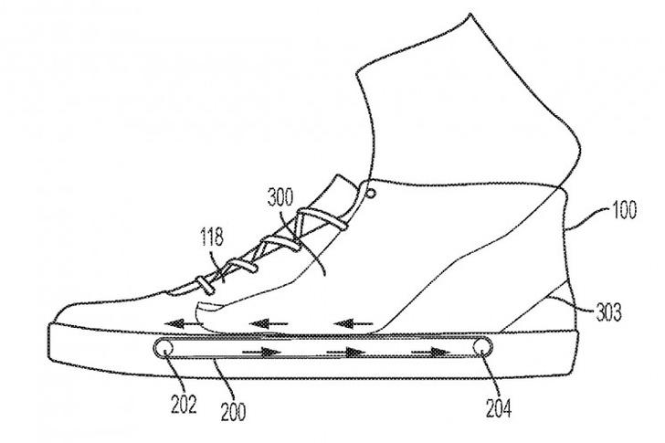 Фото №1 - Nike запатентовал кроссовки с беговой дорожкой в стельке