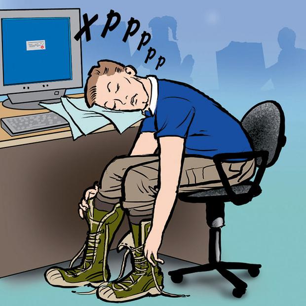Фото №2 - Как незаметно спать на работе