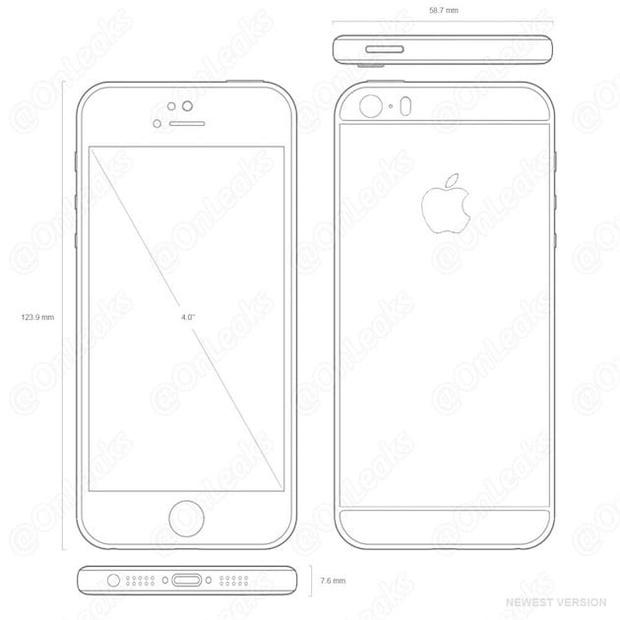 iPhone 5SE по версии OnLeak