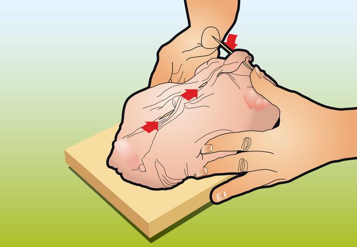 Фото №11 - Как вытащить все кости из курицы: инструкция в картинках