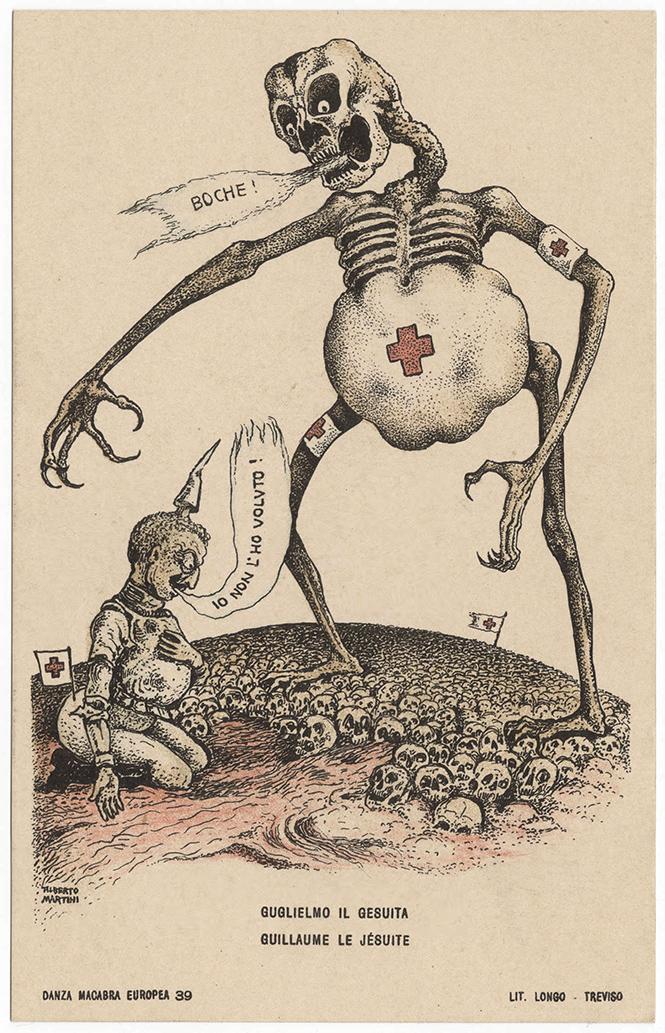 Фото №18 - Жутковатые карикатуры Первой мировой