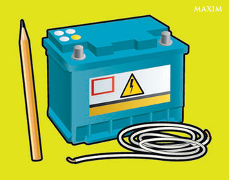 Фото №1 - Автосмекалочка: как сделать фонарь из карандаша