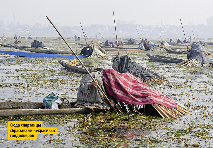 Фото №1 - История одной фотографии: «теневая рыбалка» в Кашмире