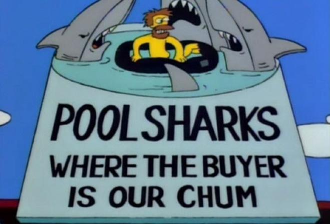Бассейн с акулами