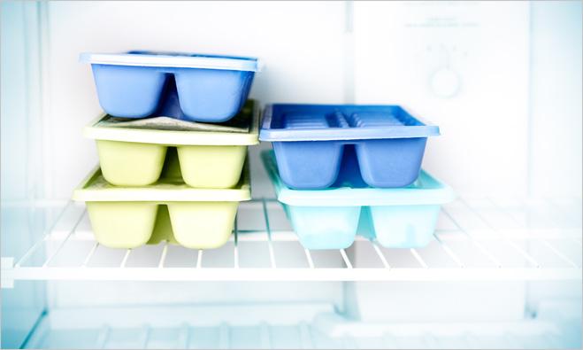 Лед в морозилке