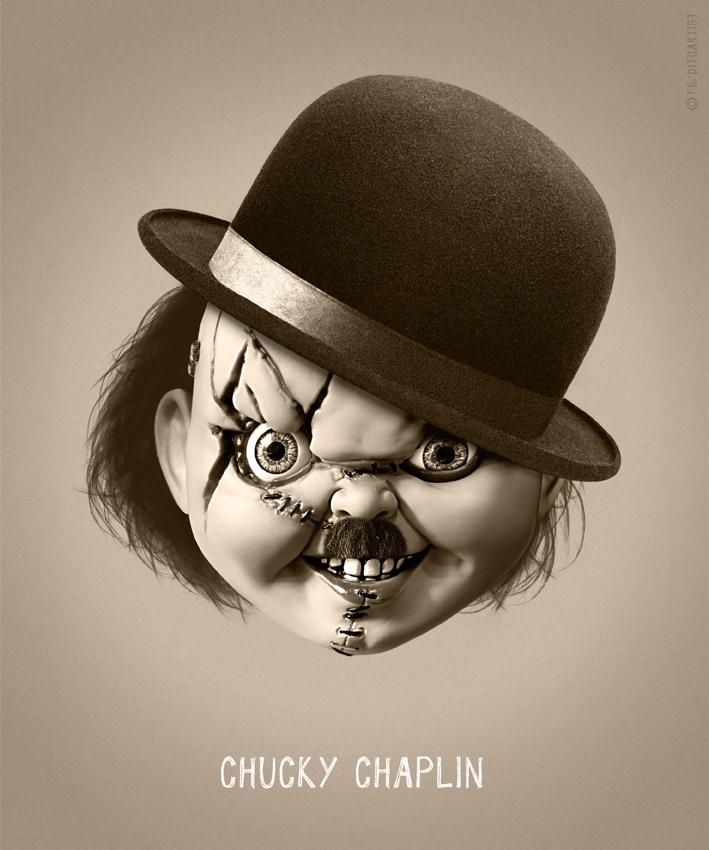 Фото №2 - Челолень-паук, Чаки Чаплин, Йодали, Эскрикмо и другие убойные мэшапы в стиле сплав-поп-арт