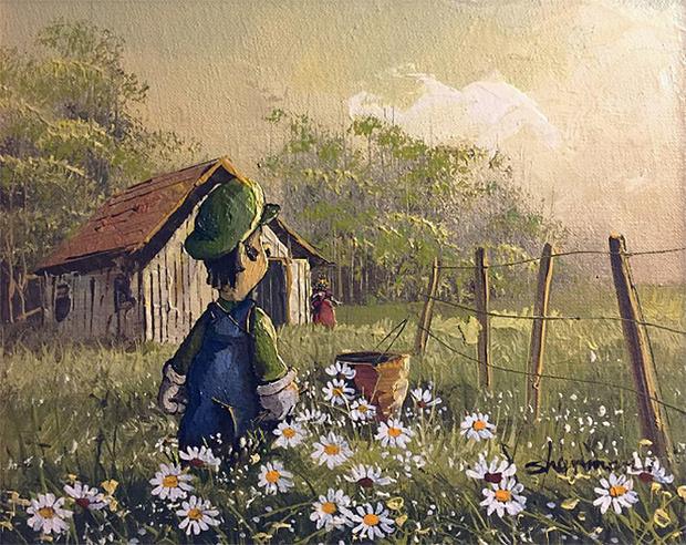 Фото №7 - Художник скупает никому не нужные полотна и делает их веселыми!