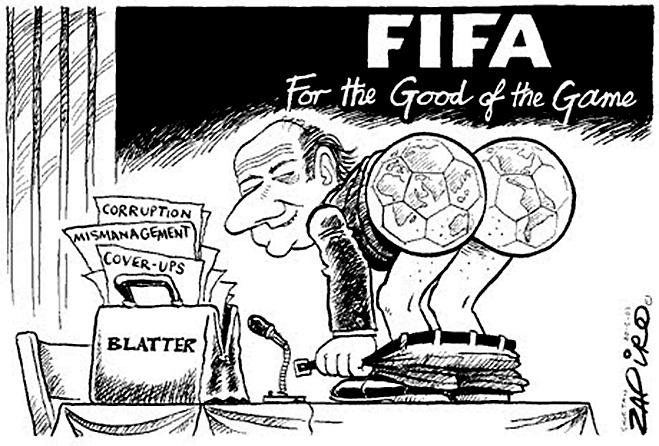 Фото №15 - Пенальти разных широт: коррупция ФИФА глазами иностранных карикатуристов