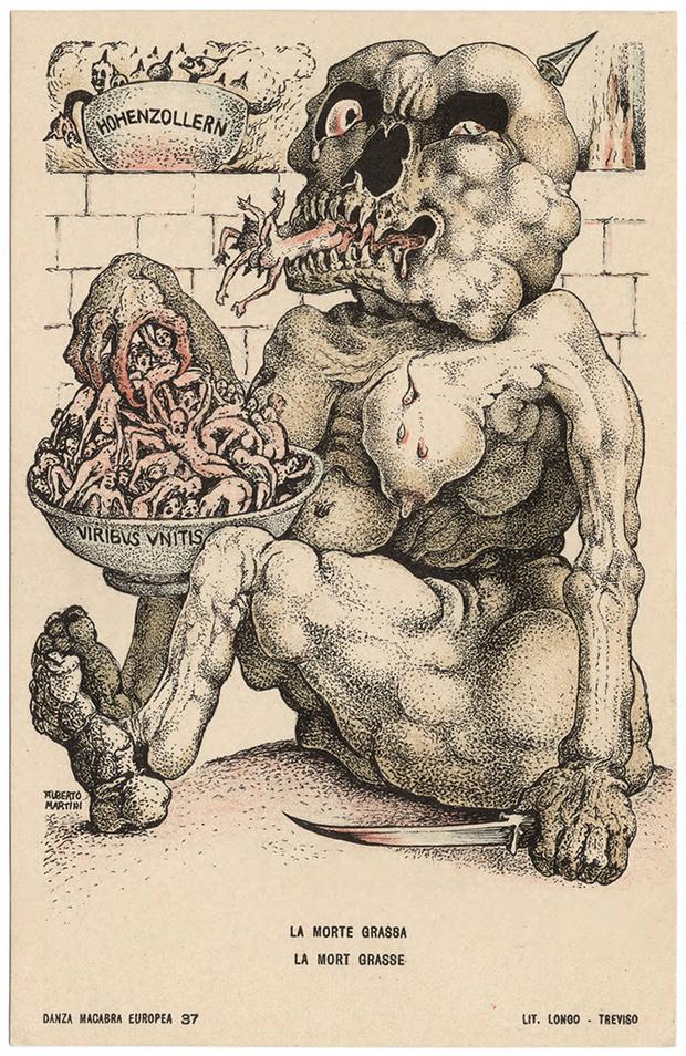 Фото №2 - Жутковатые карикатуры Первой мировой