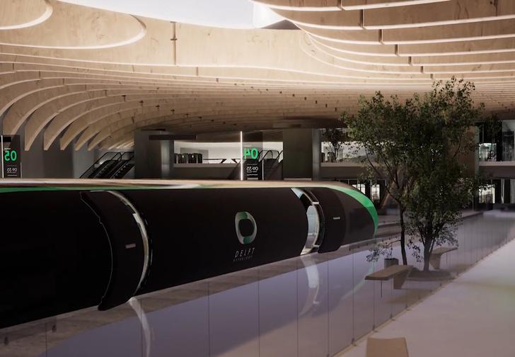 Фото №1 - Компания Илона Маска показала, как могут выглядеть станции Hyperloop (видео)