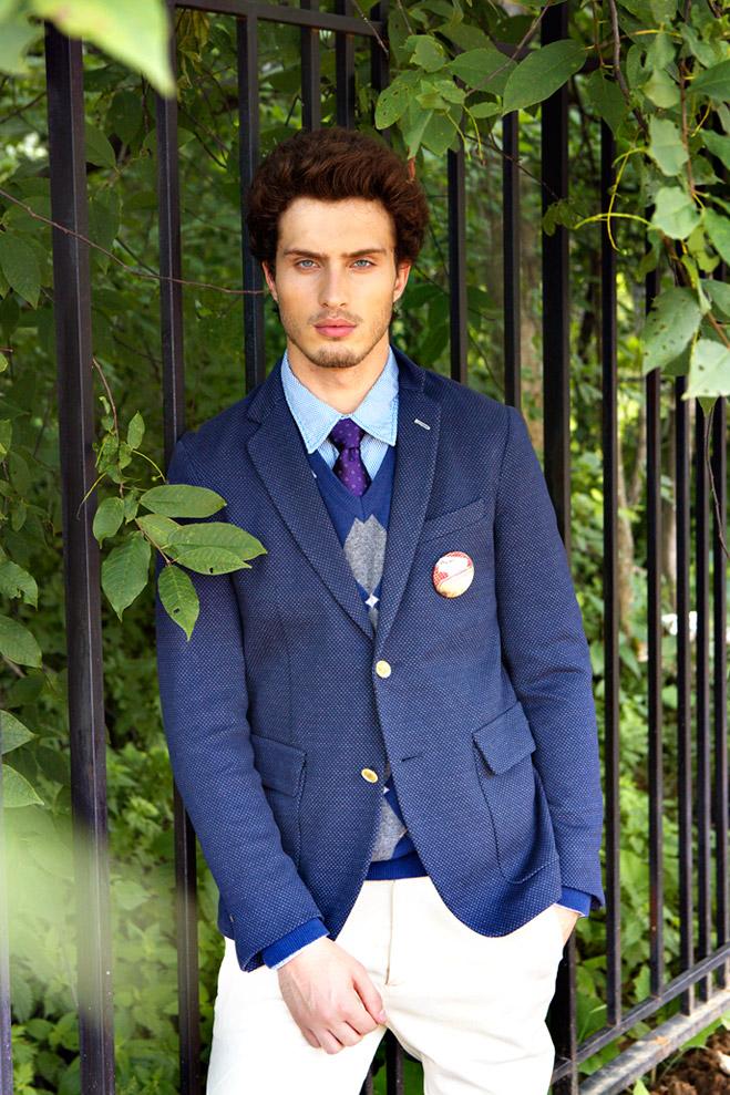 Пиджак Gant, джемпер Gant, рубашка Tom Tailor, галстук Pal Zileri, брюки Tru Trussardi