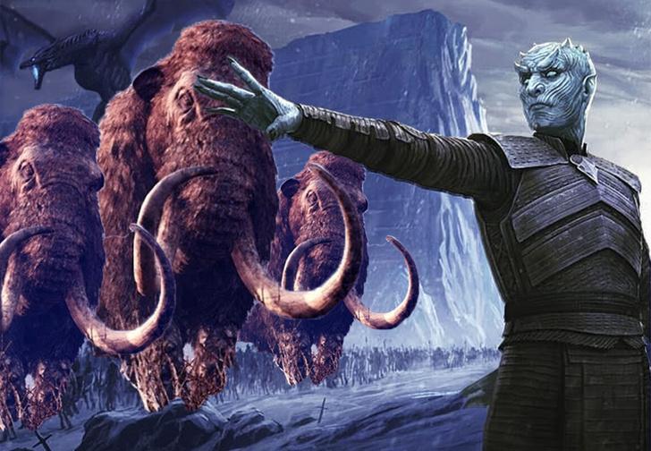 Фото №1 - Судя по новым кадрам с места съемок, в приквеле «Игры престолов» появятся мамонты