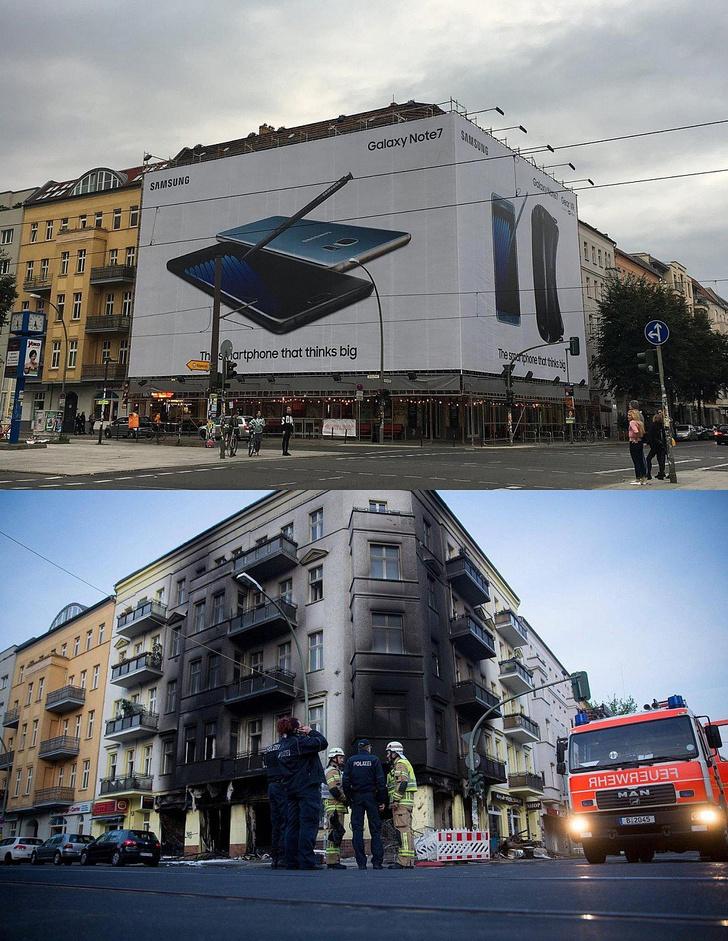 Фото №2 - Избранные шутки о самовоспламеняющейся технике Samsung
