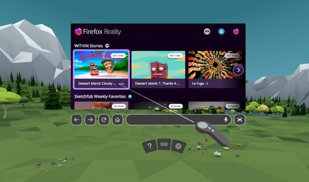 Фото №1 - Mozilla выпустила Firefox, но для виртуальной реальности