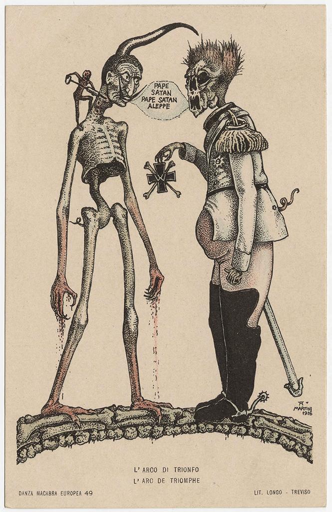 Фото №28 - Жутковатые карикатуры Первой мировой